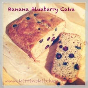 banana blueberry cake