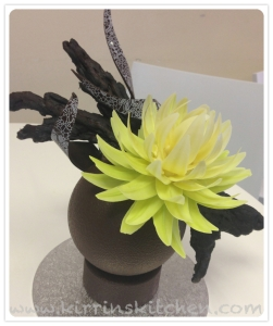 Choc flower sculpture