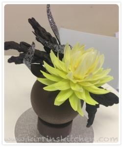 Choc flower sculpture